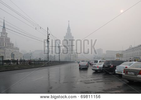 Terrible Smog In Moscow