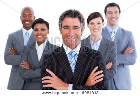 Portrait Of Competitive Business Team