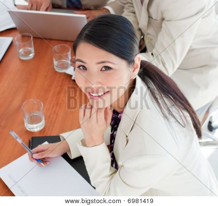 Charismatic Asian Businesswoman In A Meeting