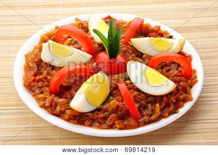 Egg roast,curry,masala
