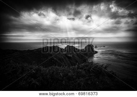 Cape Kamui in Black and white