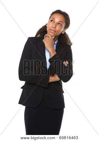 Serious Business Woman Thinking