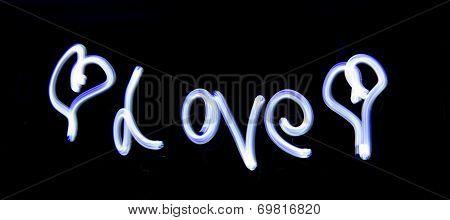 Light Painting Love
