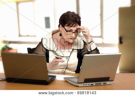 Teacher Doing Homework For Students Online