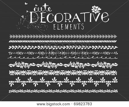 Vintage Border Line Design Elements