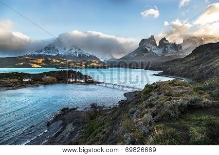 One of the main destination in south Patagonia, the beautiful National Park Torres del Paine, Patago