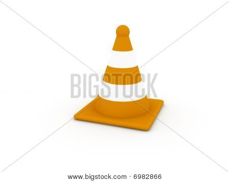 Striped Orange Cone
