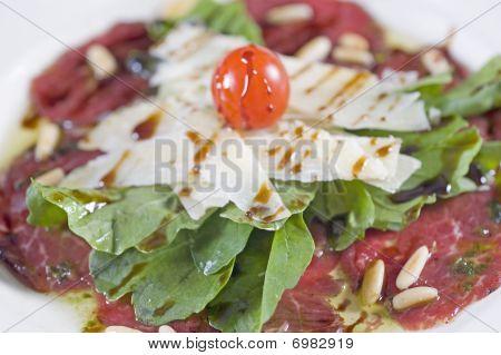 Beef carpaccio appetizer