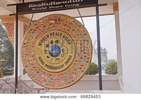 World Peace Gong In Vientiane