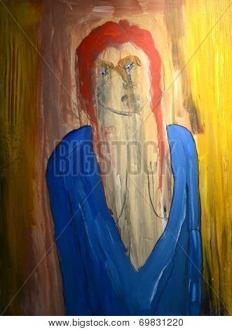 Nice Large scale figurative original painting On Canvas
