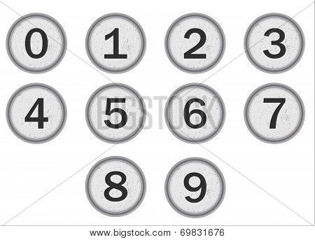 Typewriter Keys Numbers