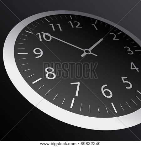 Classic time Clock vector web