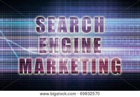 Search Engine Marketing or SEM on Business Chart