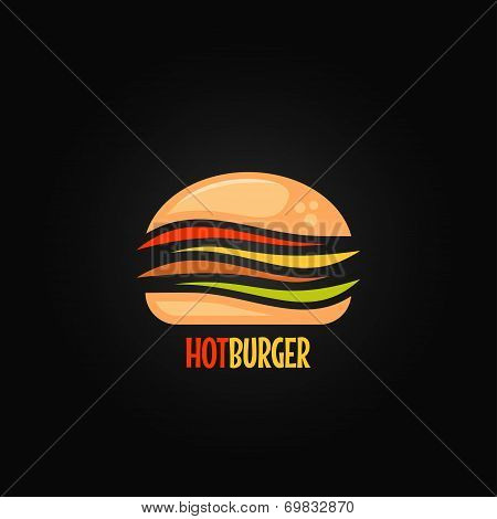 burger symbol hamburger icon design background
