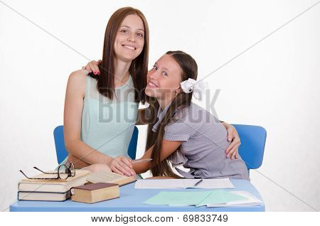 Teacher Hugs Favorite Teacher