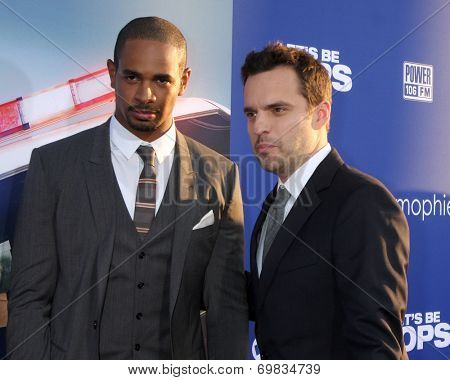 LOS ANGELES - AUG 7:  Damon Wayans Jr, Jake Johnson at the
