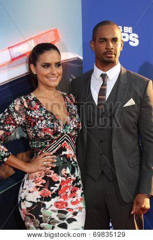 LOS ANGELES - AUG 7:  Samara Saraiva, Damon Wayans Jr at the