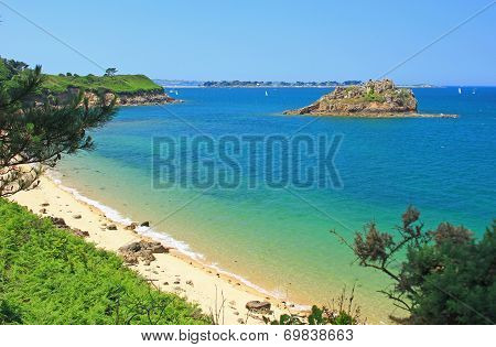 Beach And Islands In The Bay Of Morlaix