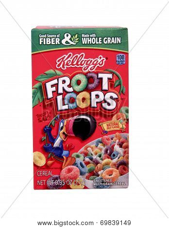 Box Of Kellogg's Fruit Loops Cereal
