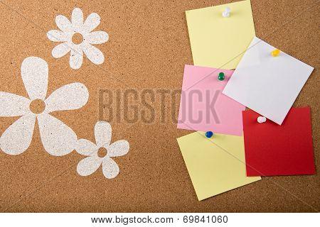 Sticky Memo Note Card On Board