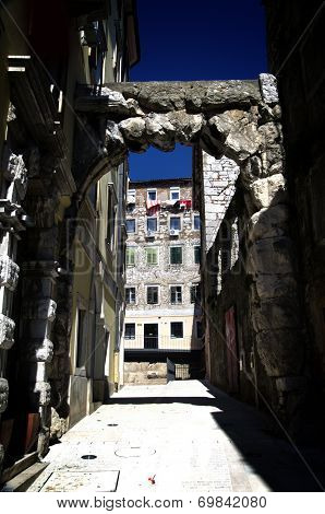 Old Gateway Or Roman Arch In Rijeka,croatia