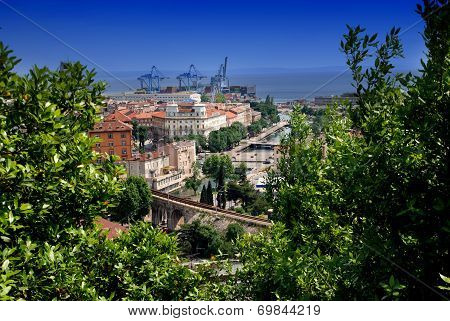 Panoramic View Of Rijeka And Tito's Square