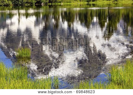 Picture Lake Abstract Mount Shuksan Washington Usa