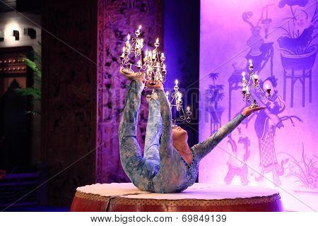 candle acrobatics