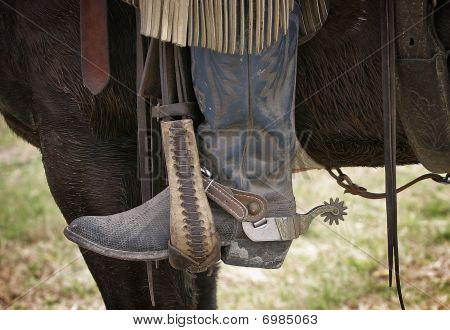 Cowboy Boot in Stirrup