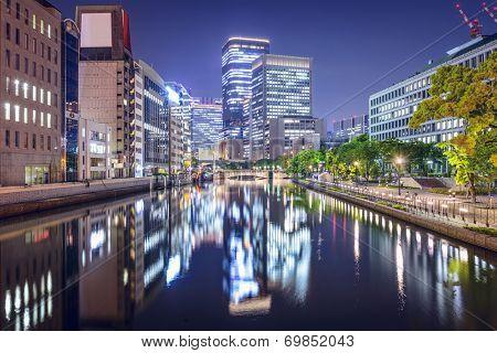 Osaka, Japan at the Nakanoshima district.