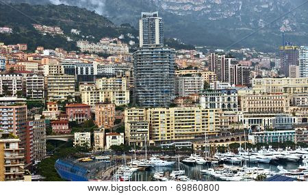Monaco - View Of Monte Carlo From The Heights