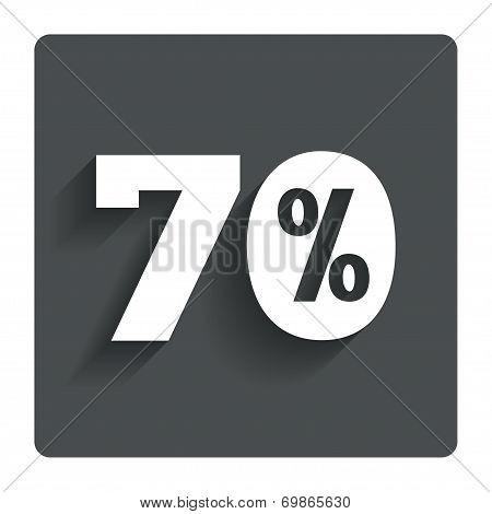 70 percent discount sign icon. Sale symbol.