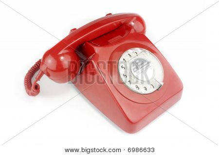 Old Fashioned Red Telephone