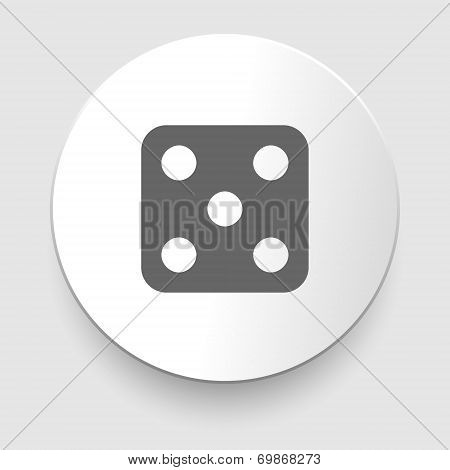 Vector illustration of one dices - side with 5