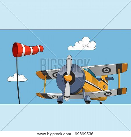 Acrobatic biplane