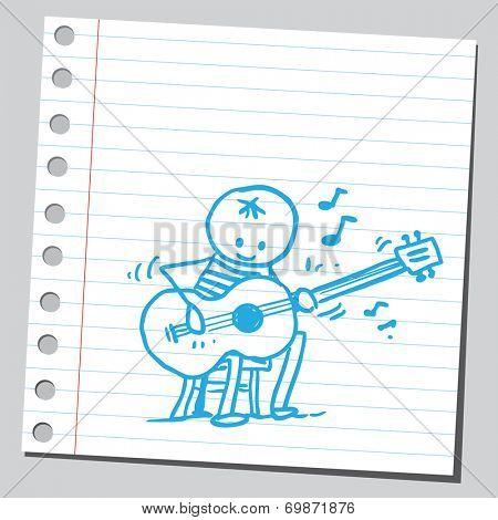 Jazz player guitarist
