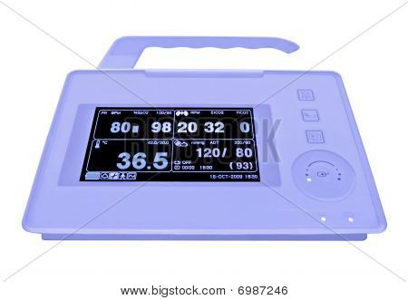 New Cardiovascular Portable Monitor, Doppler Display, Isolated