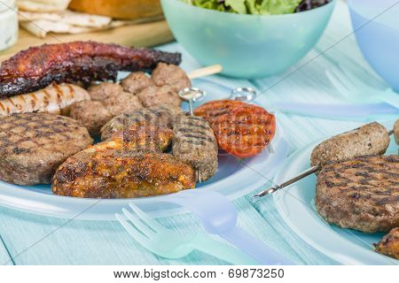 Assorted Barbequed Meat