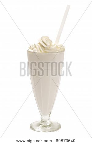 milkshake in a tall glass