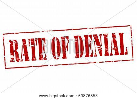 Rate Of Denial