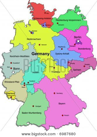 Germany map on white background
