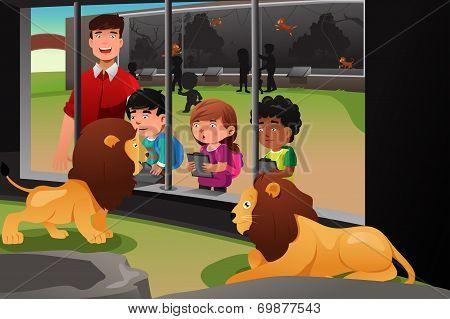 Kids School Field Trip To The Zoo