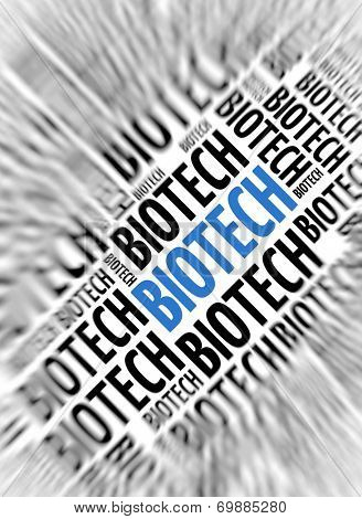 Marketing background - Biotech - blur and focus