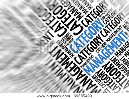 Marketing background - Category Management - blur and focus