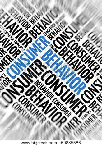Marketing background - Consumer Behavior - blur and focus