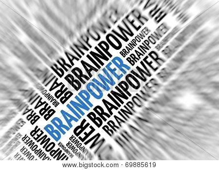 Marketing background - Brainpower - blur and focus