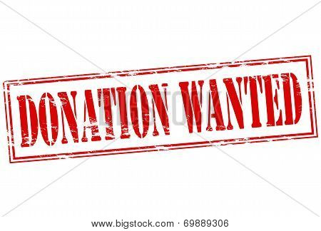Donation Wanted