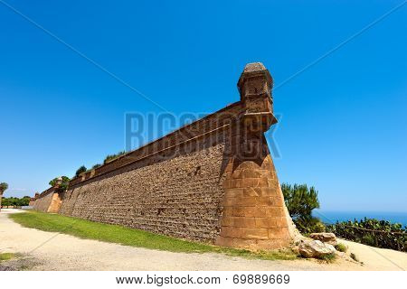 Montjuic Stronghold In Barcelona Spain