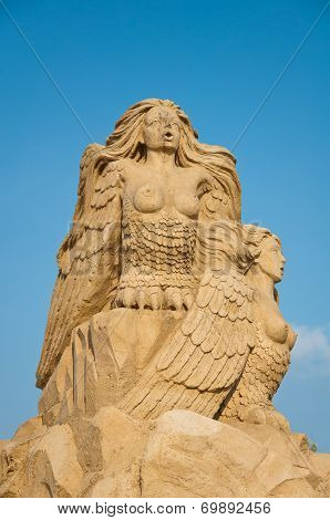 Sirens, Sand Sculpture In The Sky
