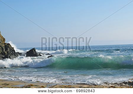 Waves Crashing in Emerald Bay